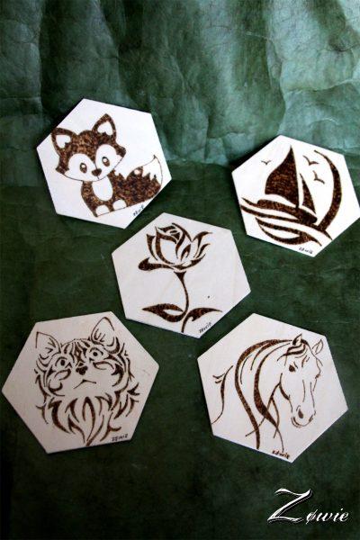 Dessous de verre hexagone